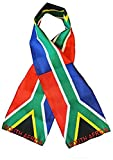 Wholesale set of 2 South Africa Country Lightweight Flag Printed Knitted Style Scarf 8''x60''