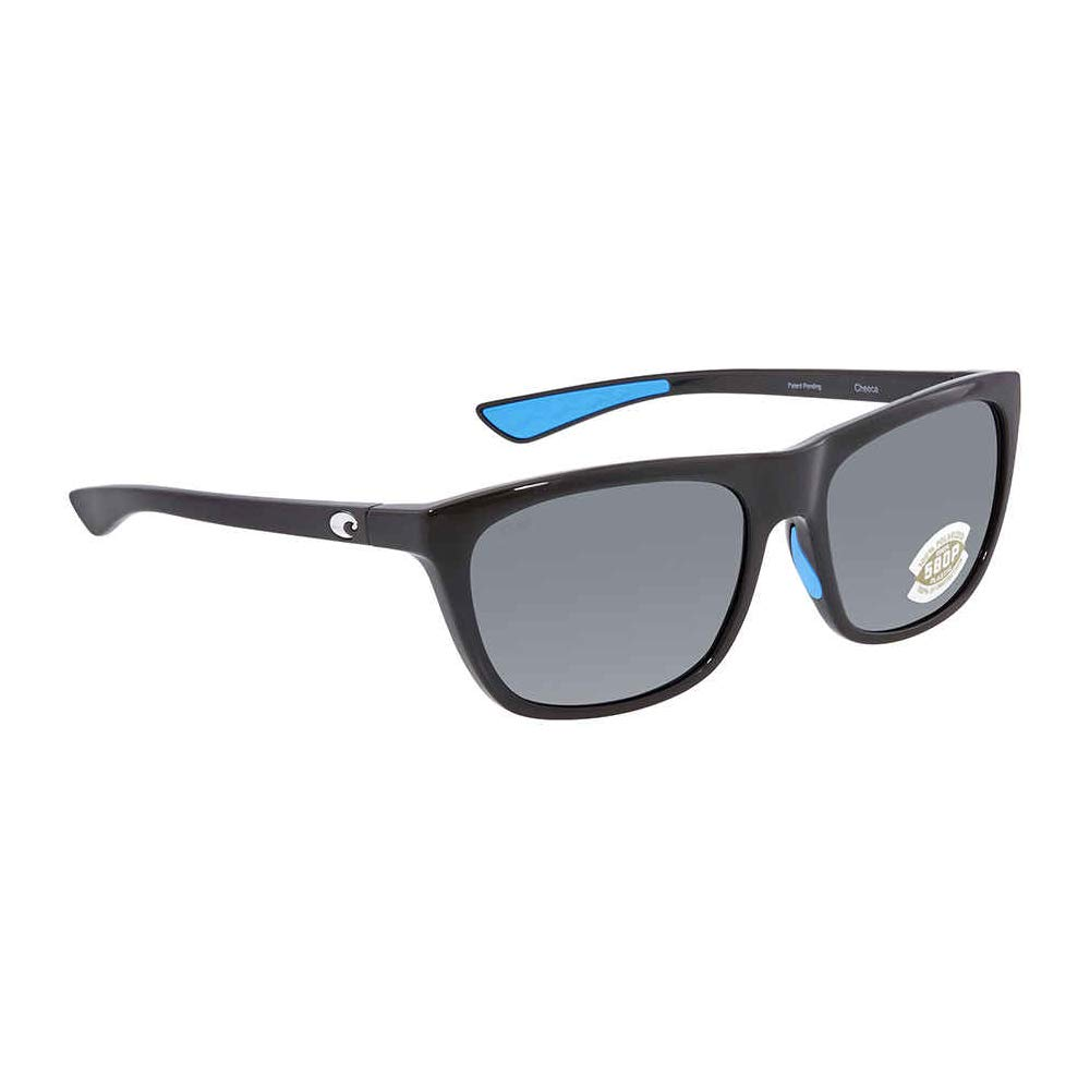 Costa Cheeca Shiny Black Resin Frame Grey Lens Unisex Sunglasses CHA11OGP by Costa Del Mar