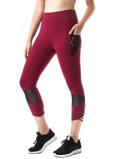 Amazon.com: Figur Activ deporte mujer Capri 7/8 Leggings ...