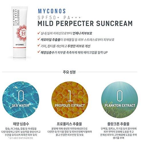 Myconos Day Cream Korean SPF Sun Protection Whitening Moisturizing Anti Wrinkle Anti Aging Multi Care Daily Cream Moisturizer Makeup Base - Korean Beauty Daily Sun Cream Whitening Moisturizer