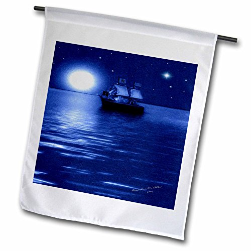 - 3dRose fl_6670_1 Pirate Ship Smudgeart Ship Art Garden Flag, 12 by 18-Inch