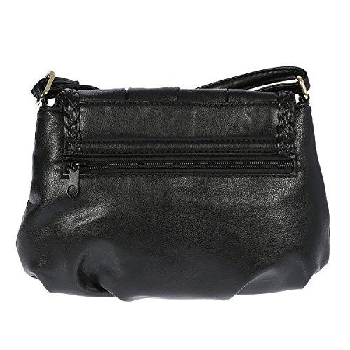 citytasche pour taupe x main clutch cm à 14 23 sac sac femme bag bandoulière Noir Petit qEIwA6n