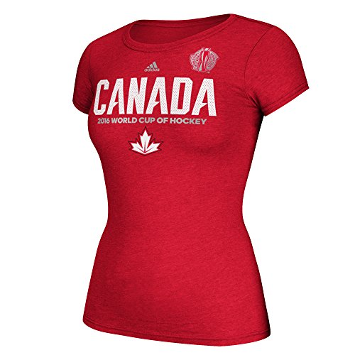 790e2d99cd4 adidas Women s World Cup of Hockey Team Canada Cap Sleeve Tee