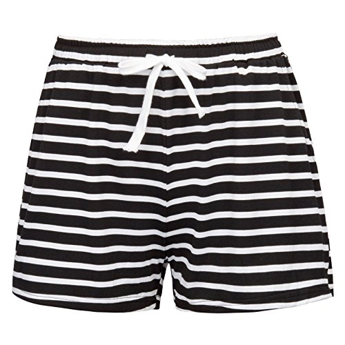 Cotton Jersey Striped Pajamas Shorts for Women Size L ZE129-1
