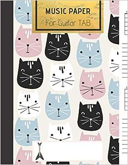 music paper for guitar cute cat blank guitar chord journal