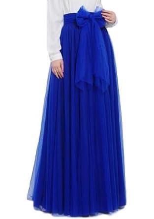 086b8009e3 Lapiness Women's Long Tutu Tulle Skirt Full/Ankle Length A Line Maxi Skirt  Wedding Party