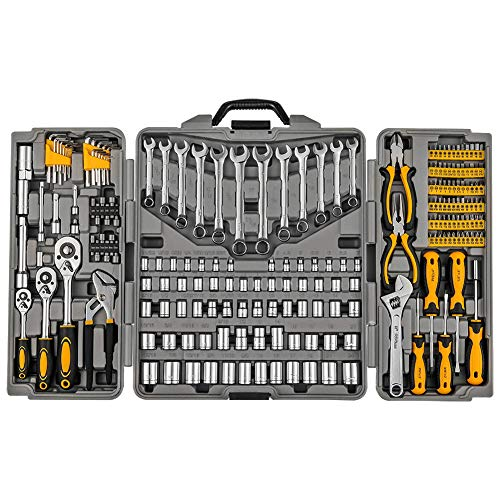 (Mechanics Tool Set 205-Piece, Household Tool Kit Set with Tools Box Case for Men and Women)