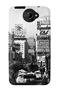 S0182 Old New York Vintage Case Cover for HTC ONE X