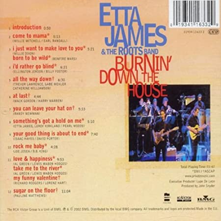 Etta James   Burninu0027 Down The House: Live At The House Of Blues    Amazon.com Music