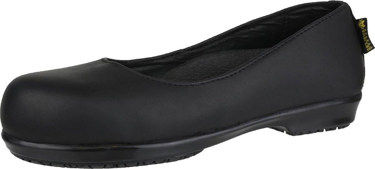 Amblers Safety Damenschuhe FS109C Non Non Non Metal Slip on Leder Schuhes schwarz 0d74b9