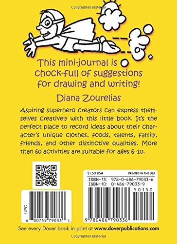My Superhero Mini-Journal (Dover Little Activity Books)