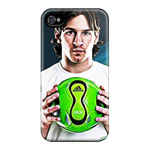 Iphone 4/4s OCD12156emHX Support Personal Customs Vivid Messi Series Scratch Resistant Hard Phone Cases -JonathanMaedel