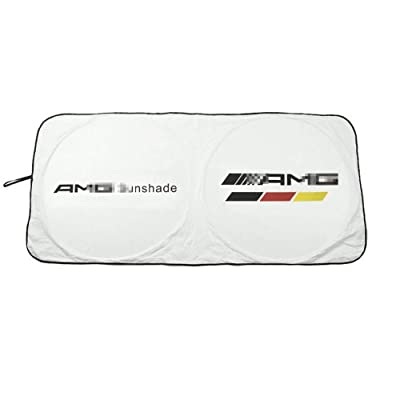 Car Windshield Sun Shade - Blocks UV Rays Sun Visor Protector, Sunshade to Keep Your Vehicle Cool Damage Free,for Mercedes-Benz AMG GLK300 GLA C200L GLC CLA: Automotive