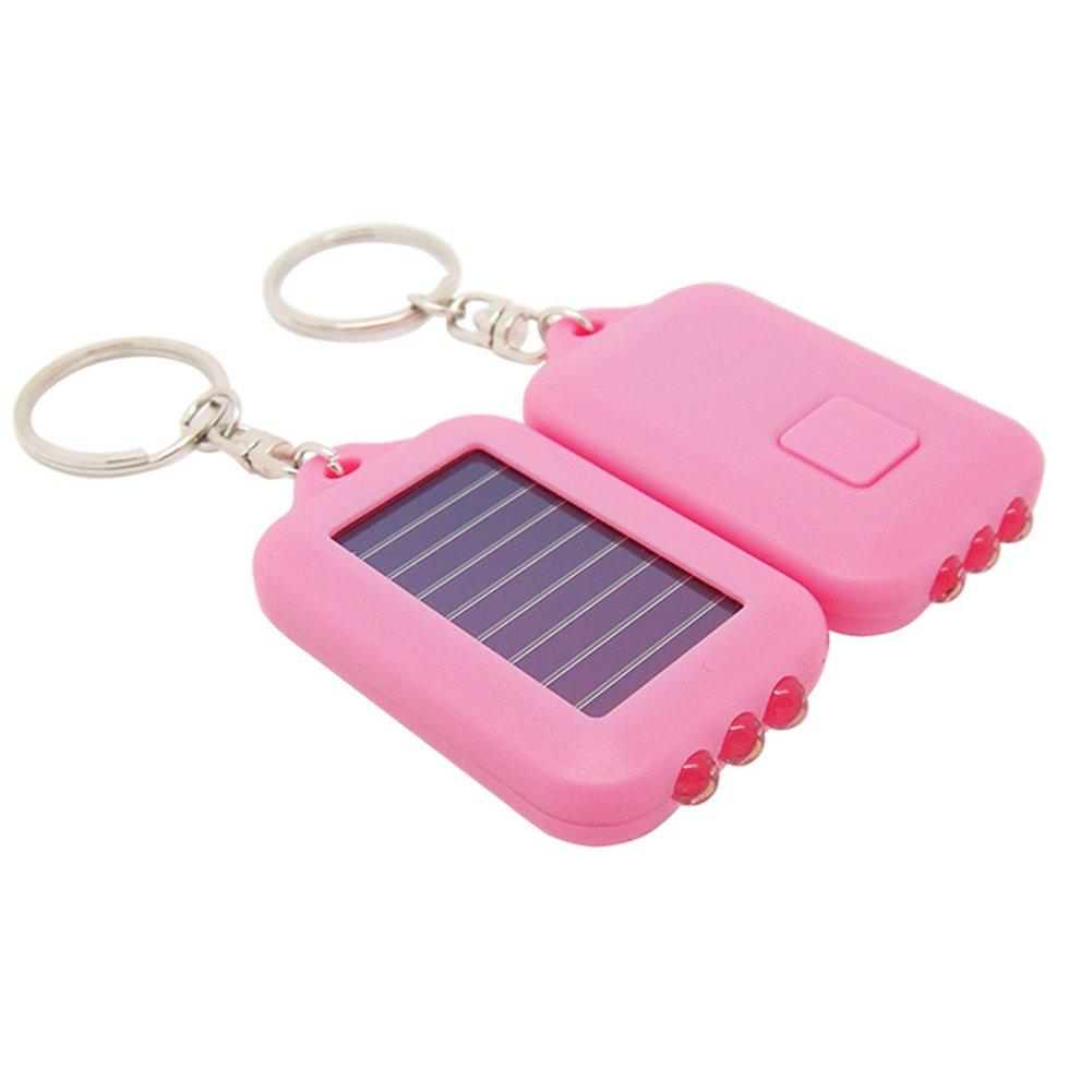 Emergency 3 LED Torch Flashlight Key Fob Solar Energy Power Keychain Lamp Light Mini Solar Power 3-LED Light Keychain Keyring Torch Flashlight