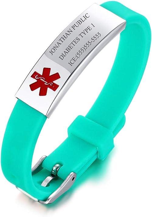 pulsera médica para diabetes tipo 1 para niñas