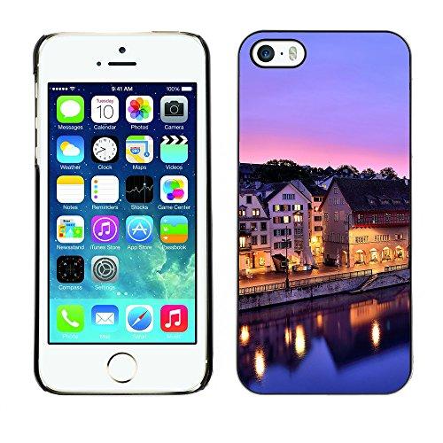 Premio Sottile Slim Cassa Custodia Case Cover Shell // F00028387 ville Sleeping // Apple iPhone 5 5S 5G