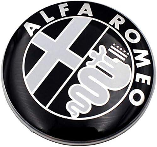Emblem Für Alfa Romeo Emblem Schwarz 74 Mm Für Motorhaube Vorne Und Hinten Schwarz 147 156 159 Beleuchtung