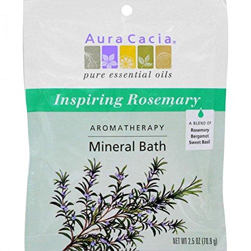 Aura Cacia, Aromatherapy Mineral Bath, Inspiration, Evergreen and Lemon Aroma, 2.5 oz (70.9 g) (Inspiration Aromatherapy Mineral Bath)