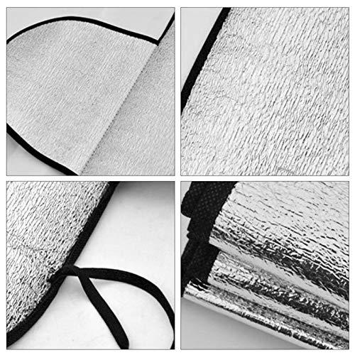 FGHGFCFFGH Copertura Multiuso per Parabrezza di Auto per Auto Anti Ombra Gelo Ghiaccio Copertura Protettiva per Neve Sbiadimento UV Resistente alla Polvere Cotone Coperchi Auto-Argento