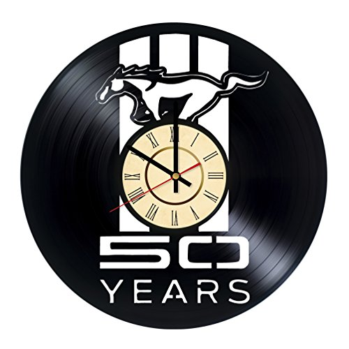 Sport Car Vinyl Record Wall Clock - Get unique Garage wall decor - Gift ideas for men and boys - Fast Car Silhouette Unique Modern Art