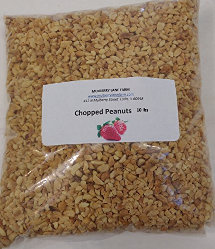 Peanuts, Chopped, 10 Pounds (ten lbs), All Natural, Dry Roasted, Great for Candy Apples, Baking, On Ice Cream! BULK.