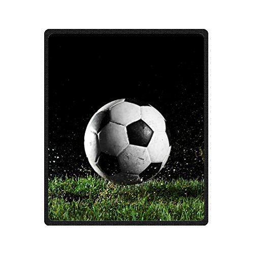 Sofe Bed/Sofa Fleece Blanket Cool Soccer Ball Art Blanket 58 Inch x 80 Inch Large
