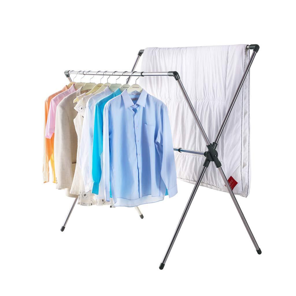 衣類ハンガー Airer衣類乾燥ラックステンレススチール屋内Foldable B07HQKJDWP