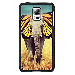 Cute Butterfly Elephant Design Samsung Galaxy S5 I9600 Case Cover Animal Print Nature Landscape Hard Plastic Cell Phone Covers for Girls