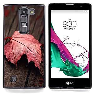 "Qstar Arte & diseño plástico duro Fundas Cover Cubre Hard Case Cover para LG G4c Curve H522Y ( G4 MINI , NOT FOR LG G4 ) (Hoja roja"")"