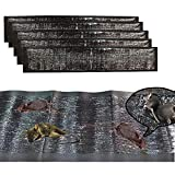 KChoies 5 Pack Extra Large PU Leather Mouse Glue Mats(47.5'x 11'), Peanut Butter Scented Dampproof Strong Adhesive Glue Traps Mats Indoor Outdoor for Mice,Rats,Rodents,Cockroaches,Snakes,Spiders