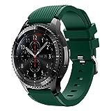 Samsung Gear S3 Frontier SM-R760 Smartwatch - Verizon Unlocked - Black with Dark Green Band (Certified Refurbished)