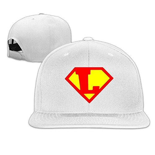 Custom Unisex Cartoon Letter L Logo Adjustable Hiphop Visor Cap White (Custom Costume Hip Hop Jewelry)