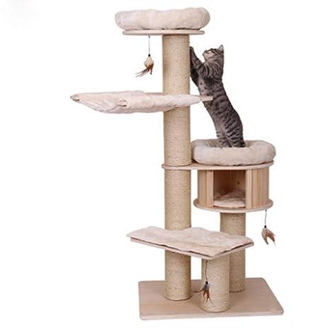 QNMM Cat Tree Cat Tower Furniture Cat Scratching Post Centro De Actividades para Mascotas con Scratcher