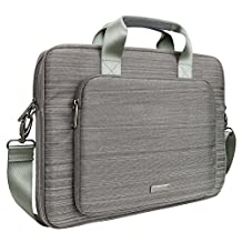 Evecase Universal Classic Padded Briefcase Messenger Bag with Shoulder Strap and Handle for MacBook Pro 15-inch with Retina display - Gray
