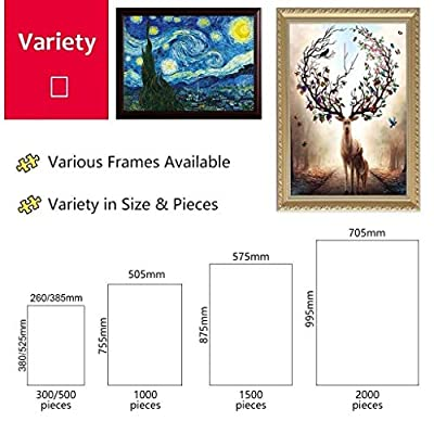 World Famous Painting Wooden Jigsaw Puzzles,Van Gogh Painting - The Café Terrace on The Place Du Forum, Arles, at Night,Educational Toys for Adults Kids,Premium Quality Parent-Child Toy,500/1000/15: Toys & Games