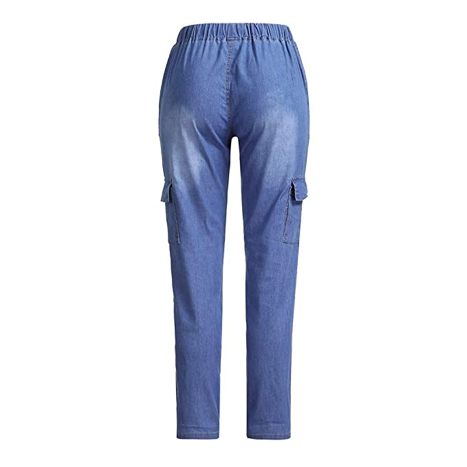 tohole Damen Jeans-Leggings aus Stretch-Denim-Hosen mit hoher Taille Gerade Jogginghose Pants Sweatpants Frauen Sport Jogging Fitness beil/äufige Outdoor Jogginghose Drawstring Hose