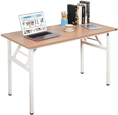 SogesHome Mesa de Escritorio Plegable para computadora 100 x 60 x ...