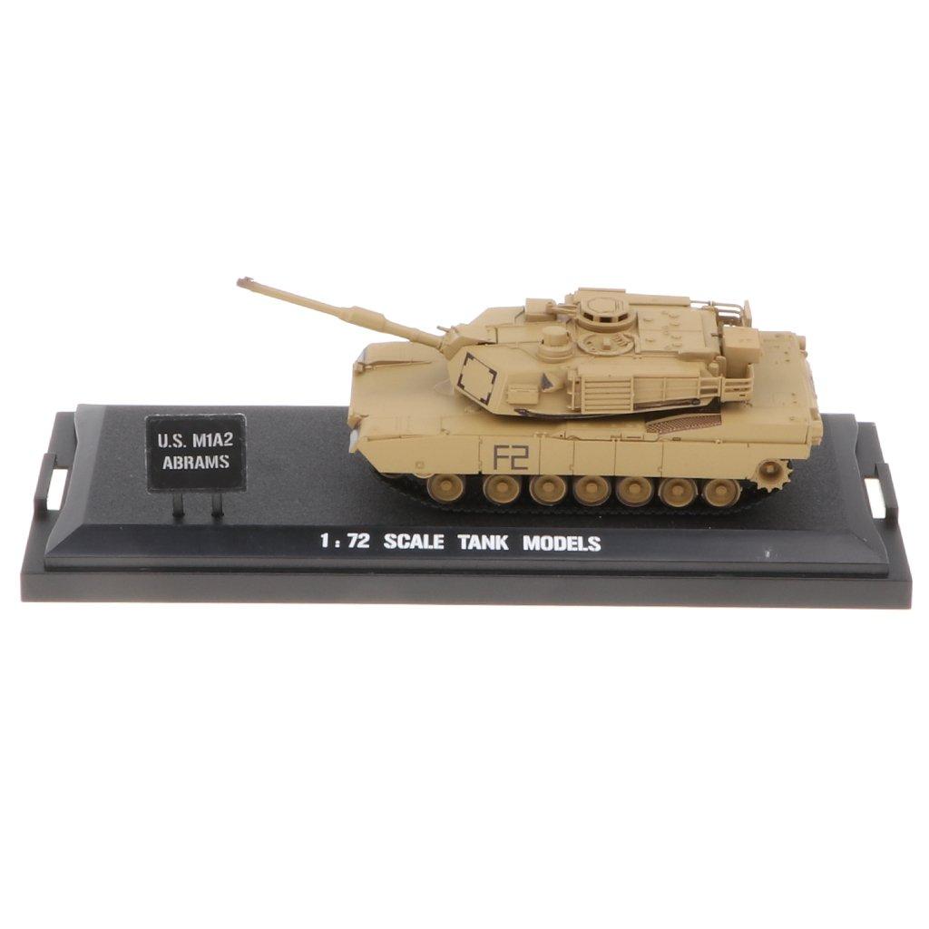 T TOOYFUL Army Model Toy 1:72 American M1A2 MBT Diecast Tank Armour Showcase Display
