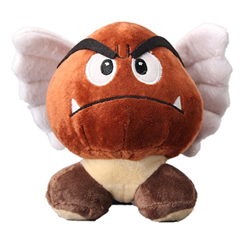 uiuoutoy Super Mario Bros. Flying Goomba Plush Toy Stuffed Animal Doll 5''