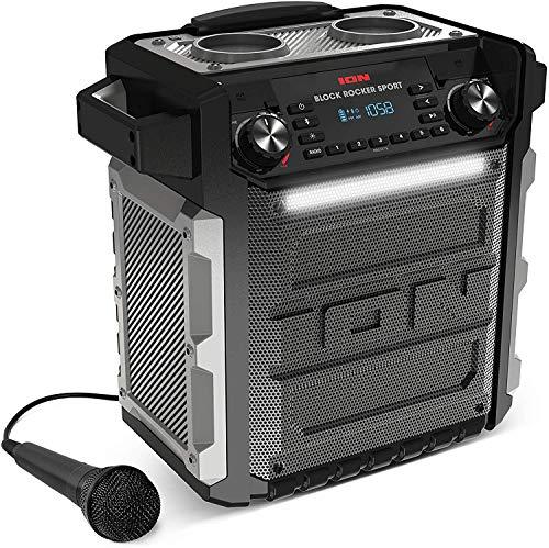 ION Block Rocker Sport Black – Altavoz Impermeable Ultra-Portátil de 100 Vatios con Batería Recargable de Larga Duración…