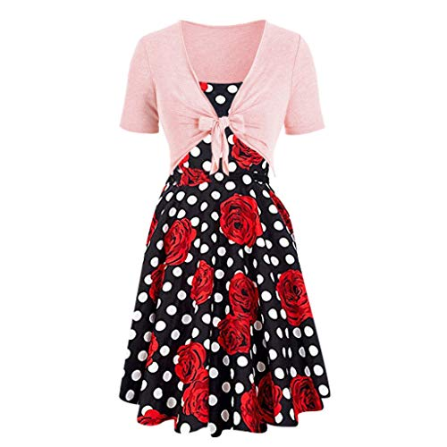 - Alimao Dress,Maxi Dresses Summer Polka Dress Pullover,Women's Two-Piece Set,Sling Pullover Two-Piece Set Party Club Dress