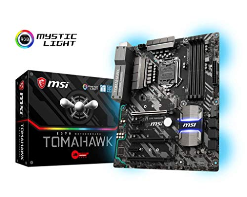MSI Arsenal GAMING Intel 8th Gen LGA 1151 M.2 DVI HDMI USB 3.1 Gigabit LAN CFX ATX Motherboard (Z370 TOMAHAWK)