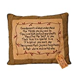 Your Heart's Delight ''Grandparents Always Stitchery Pillow, 13 by 11-Inch