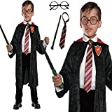 Wizard Cloak 4 piece set School Boy Fancy Dress Costume (Large)