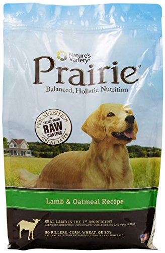 NATURE'S VARIETY 699038 4-Pack Prairie Kibble Lamb/Oatmeal Recipe for Dog, 4.5-Pound
