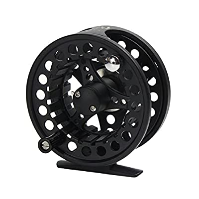 Croch Fly Fishing Reel with CNC-machined Aluminum Alloy Body with 100FT Fly Lines and Tapered Leader