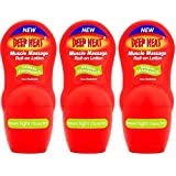 THREE PACKS of Deep Heat Muscle Massage Roll-On Lotion 50ml…