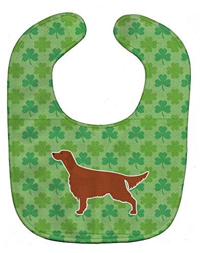 (Caroline's Treasures BB6398BIB Shamrocks Baby Bib, Green Irish Setter, Large)