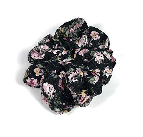 Scrunchies Black Floral Lace Scrunchie Lace Scrunchies Retro Scrunchies Summer Scrunchies Hair Accessories