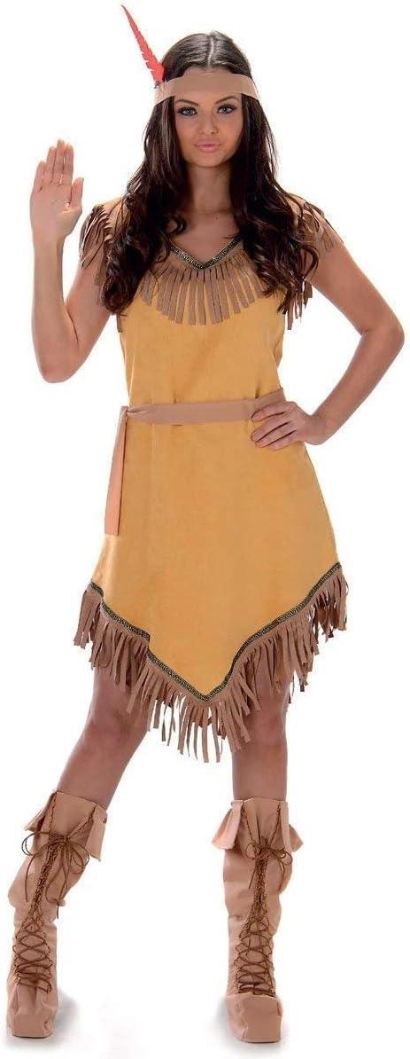 Karnival- Indian Girl Costume Disfraz, Color marrón, medium (81048)